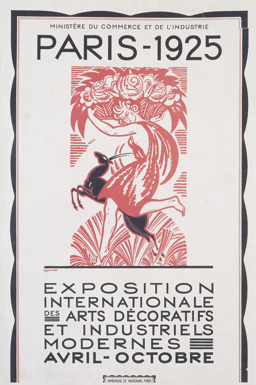 AD Classics: Exposition Internationale des Arts Décoratifs et Industriels Modernes, The Exposition's poster, designed by Robert Bonfils. ImageCourtesy of the Victoria and Albert Museum