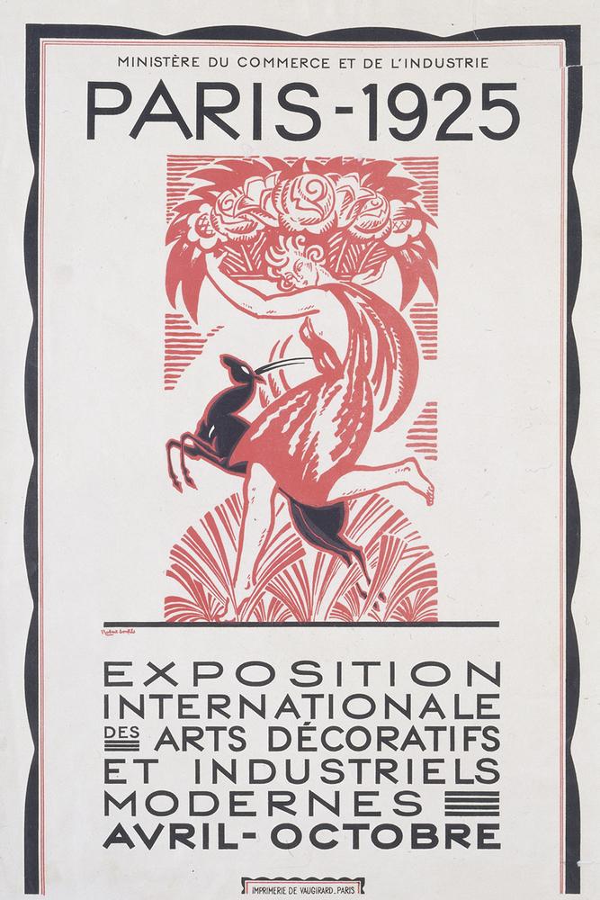 Poster for Exposition Internationale des Arts Décoratifs et Industriels Modernes by Robert Bonfil, 1925