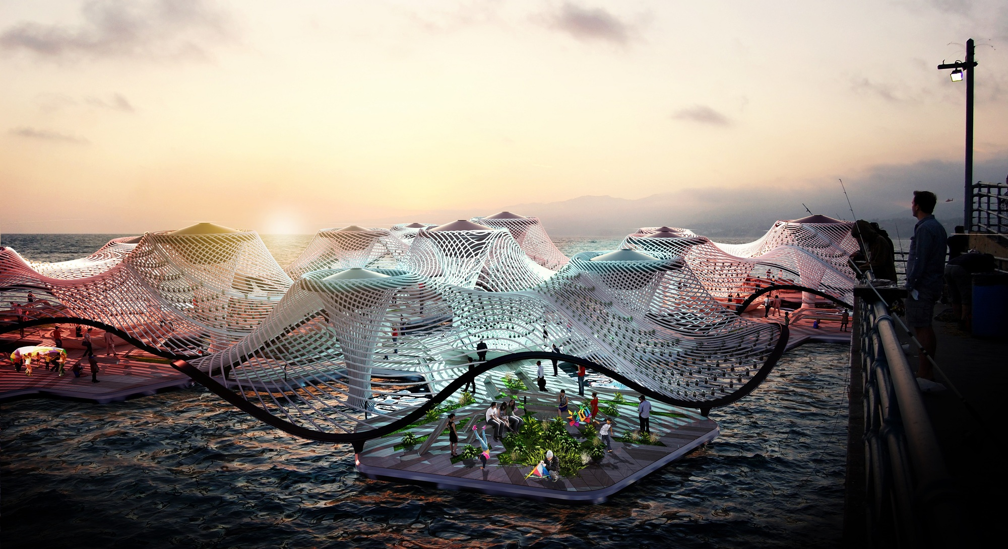 This Floating Desalination Megastructure is Designed to bat