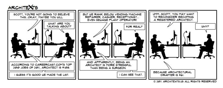 "Comic Break: ""Top Jobs List"", © Architexts"