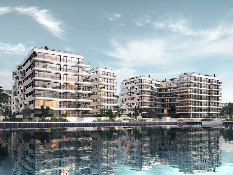 GRAFT Designs WAVE, a Green Oasis Along the Berlin Waterfront, © Bauwerk Capital GmbH + Co. KG