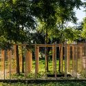 ARCHITECTS CONSTRUCT VILLAGE OF 14 WOODEN STRUCTURES AT HELLO WOOD 2016