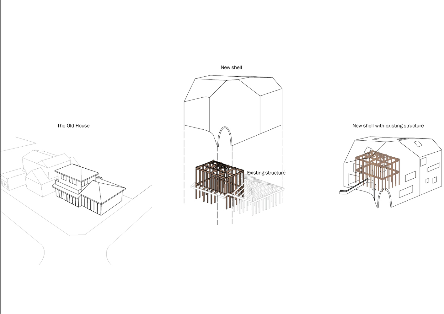 gallery of clover house mad architects 29 white clover drawing clover house mad architects diagram