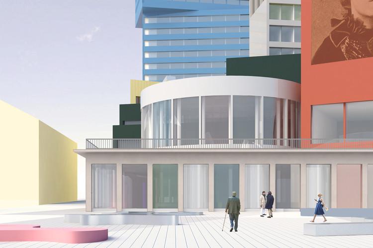 Norell/Rodhe propone una alegre y colorida composición volumétrica para el Centro Cultural de Skellefteå, Cortesía de Norell/Rodhe