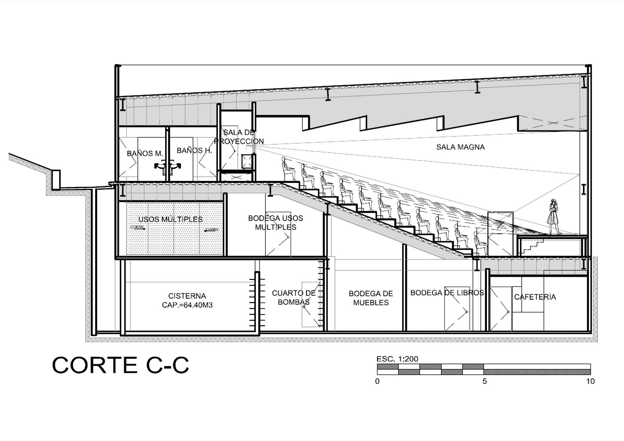 Galer a de biblioteca central uaem rec arquitectura 30 for Biblioteca arquitectura