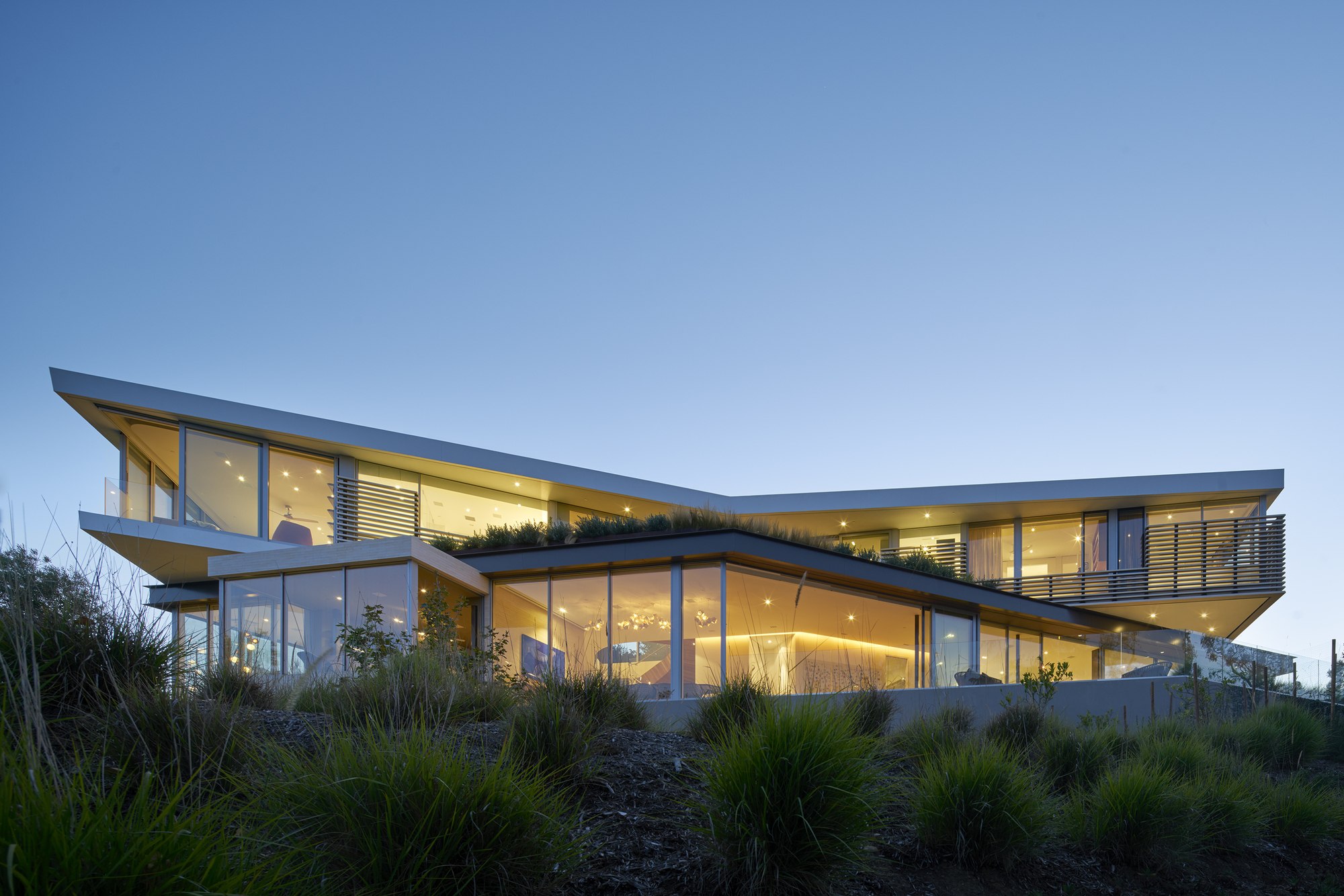 Top Architects tree top residence / belzberg architects | archdaily