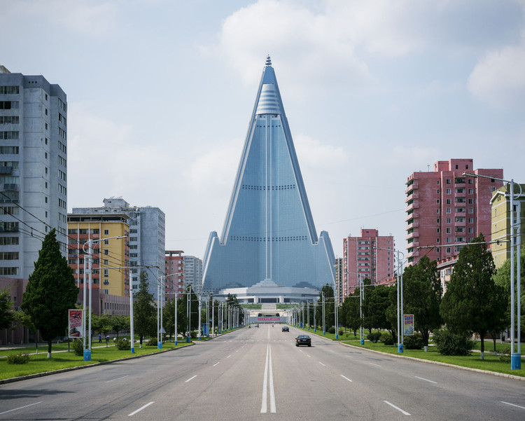 Photographer Raphael Olivier Explores the Suspended Reality of North Korea's Socialist Architecture, Ryugyong Hotel. Image © Raphael Olivier