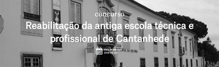 Concurso para a reabilitação da antiga escola técnica e profissional de Cantanhede, Portugal, via OASRN