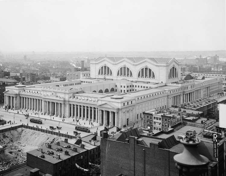 10 Projects Which Define the Architecture of Transit , Courtesy of Detroit Publishing co. via US Library of Congress (Public Domain)