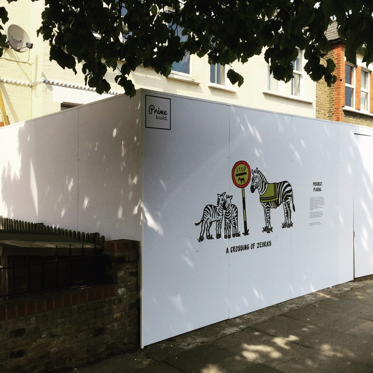 "Could Development Hoardings Be the New ""Canvas for London""?, Courtesy of Primebuild"