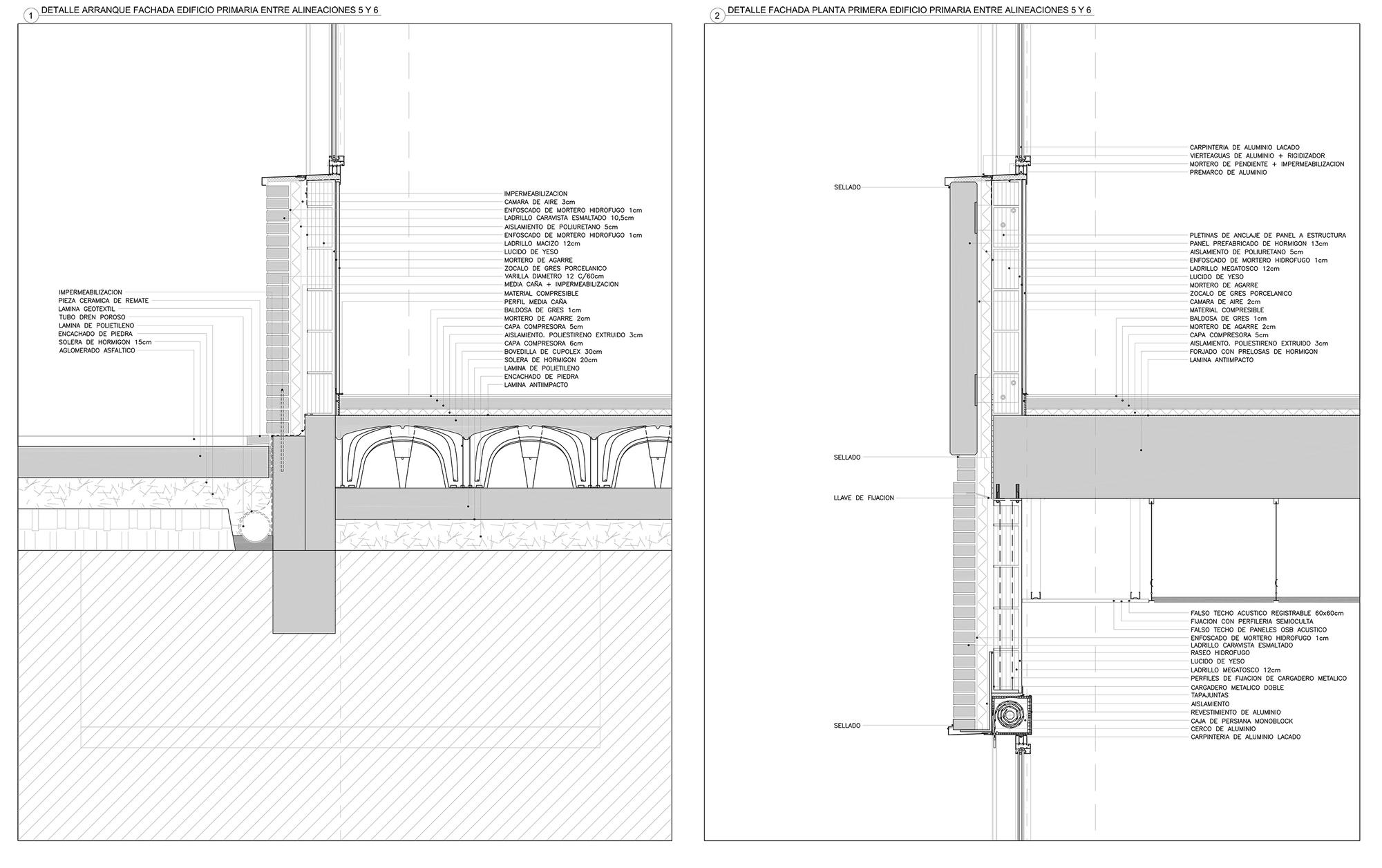 Gallery of mariturri school a54 arquitectos 21 - Detalle carpinteria aluminio ...