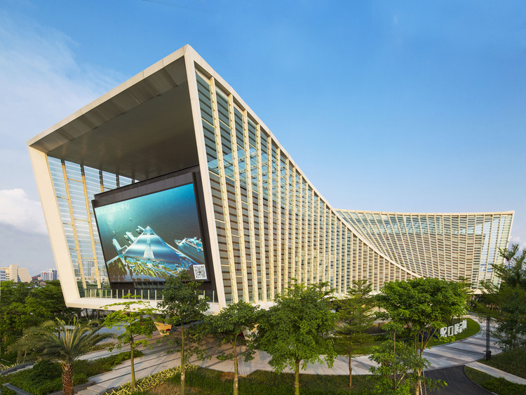 Prince bay marketing exhibition centre aecom archdaily for Marketing for architects and designers