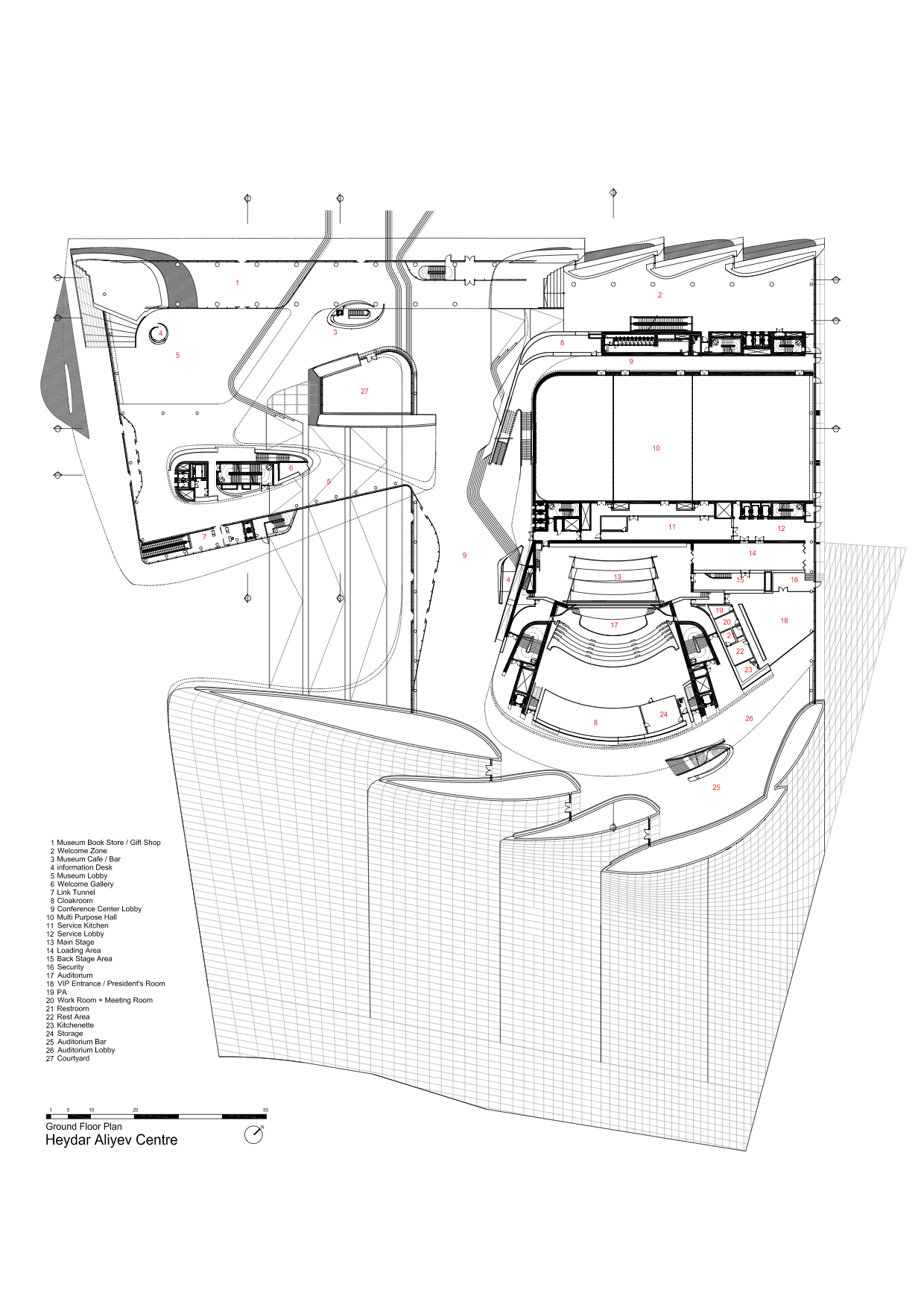 Organic Architecture Floor Plans Gallery Of Heydar Aliyev Center Zaha Hadid Architects 40