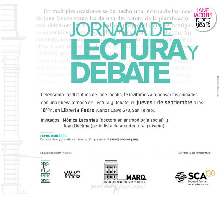 Centenario Jane Jacobs: Jornada de Lectura y Debate / San Telmo ...