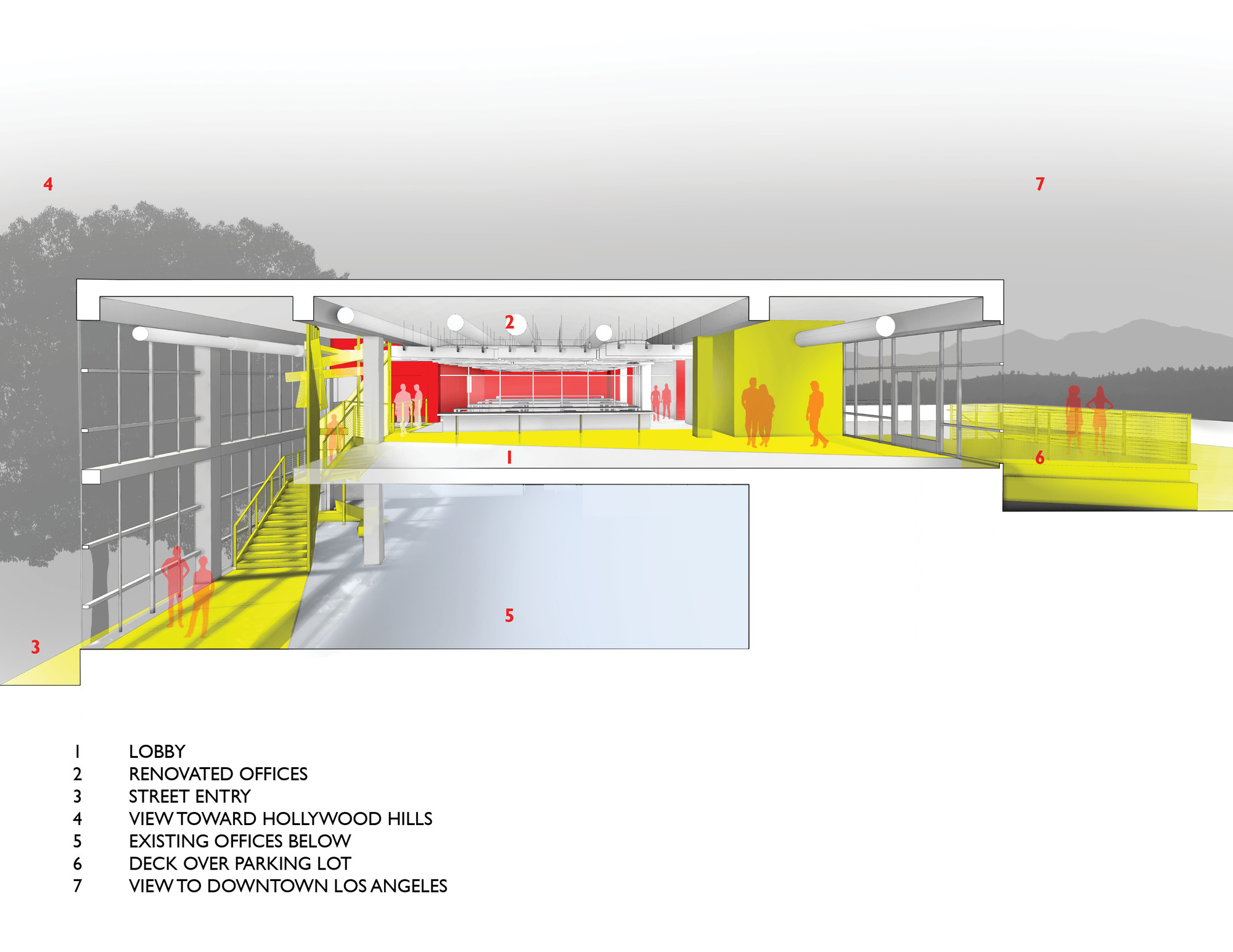 Lehrer architects office design Unite Here Agrandar Imagen Ver Tamaño Original Kcrwcom Galería De Oficina Unite Here Health En Los Angeles Lehrer