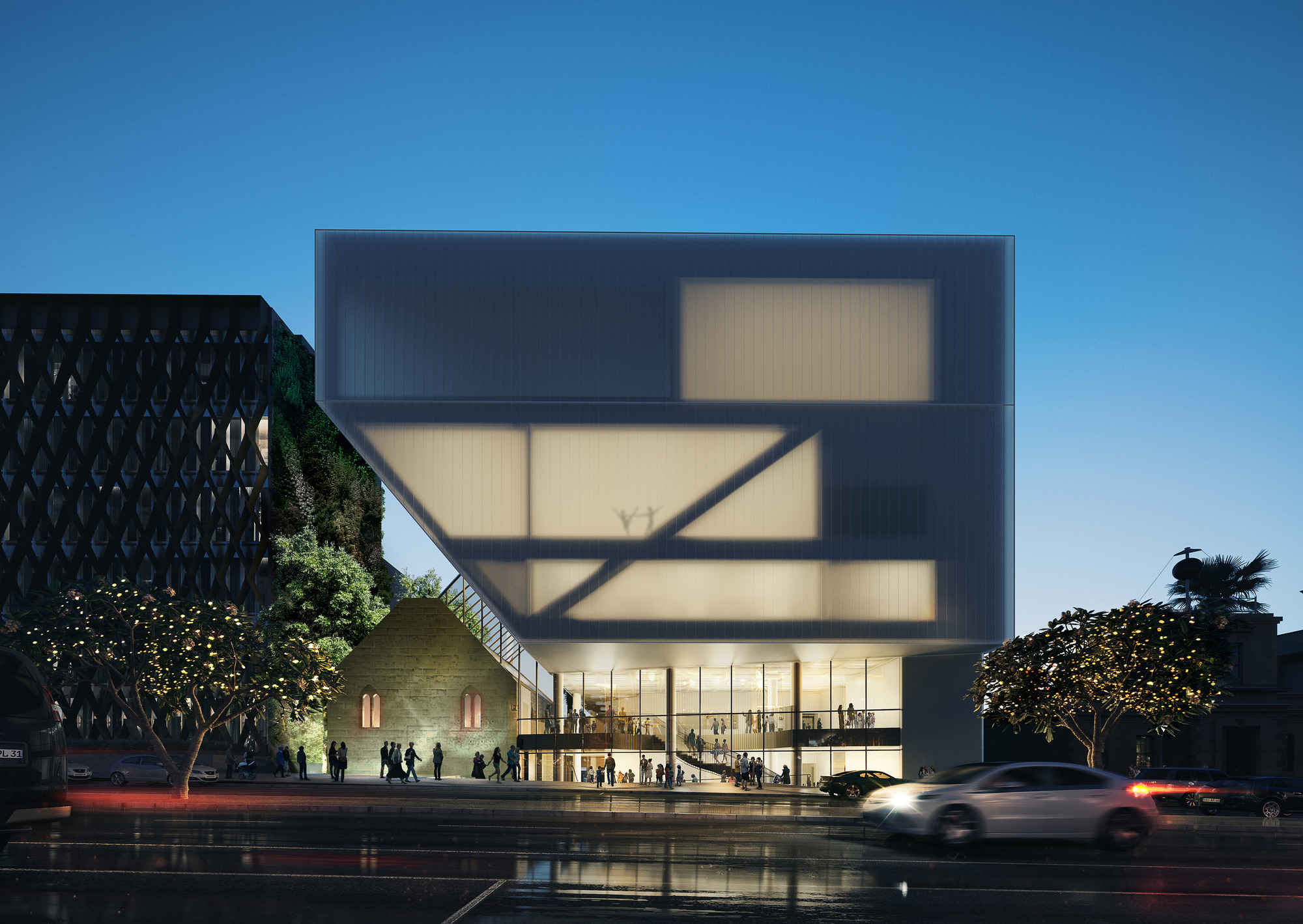 Gallery of hassell unveil design for geelong performing for National centre for the performing arts architecture