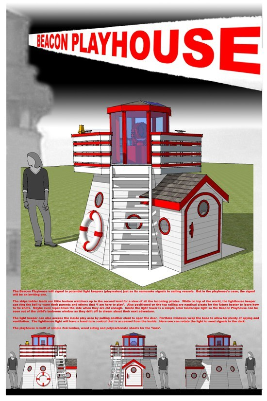 zoom image view original size - Lighthouse Playhouse Building Plans