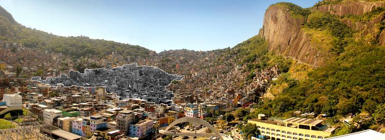 Repensando HIS / Verônica Natividade, Vista da Rocinha desde São Conrado. Em destaque, a Área de Planejamento 2