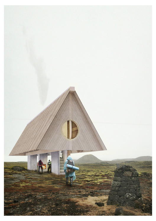 Iceland Trekking Cabins Competition Winners Announced, Courtesy of Bee Breeders