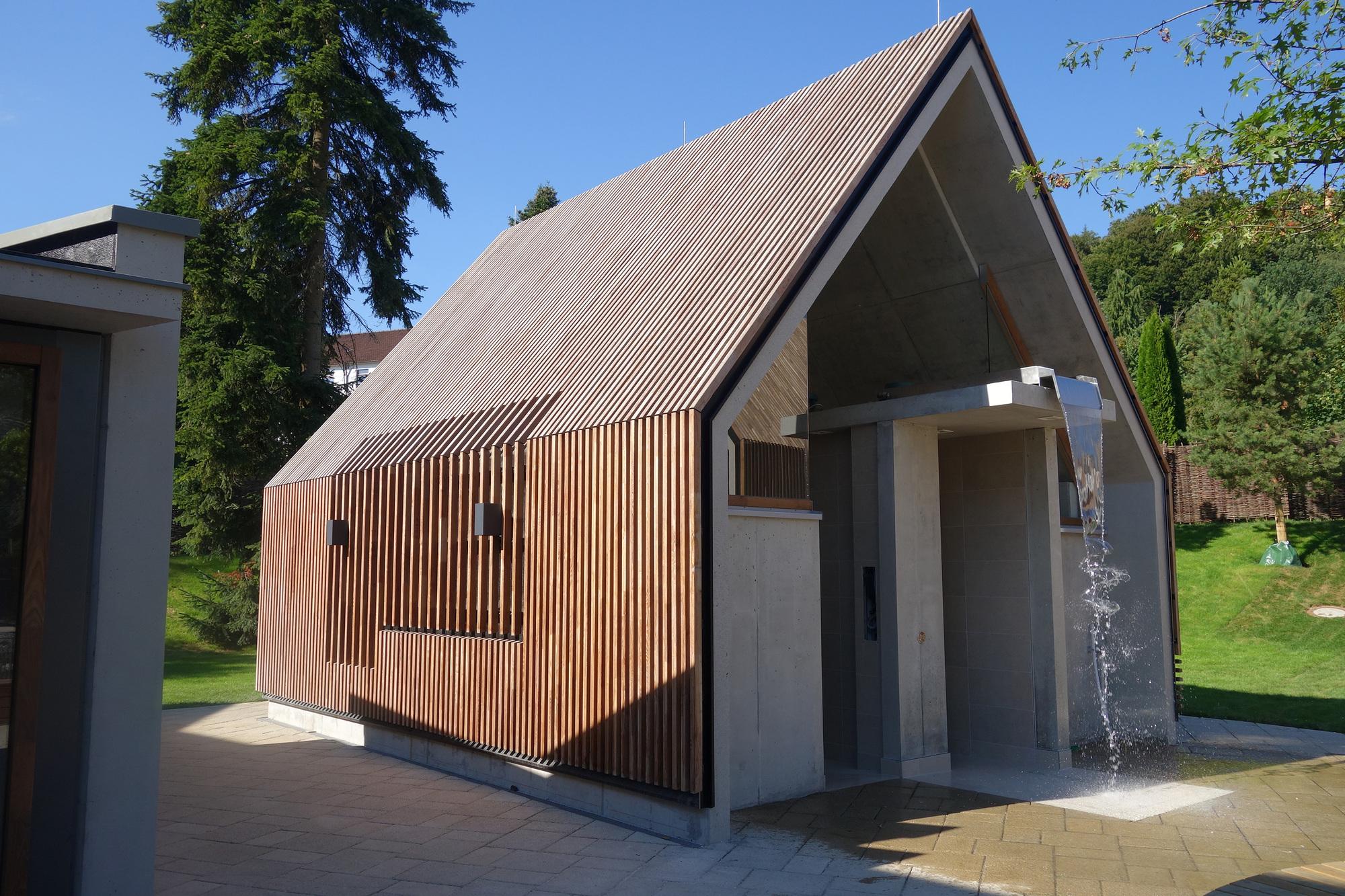 Gallery of jordanbad sauna village jeschke architektur planung 6 - Sauna architektur ...