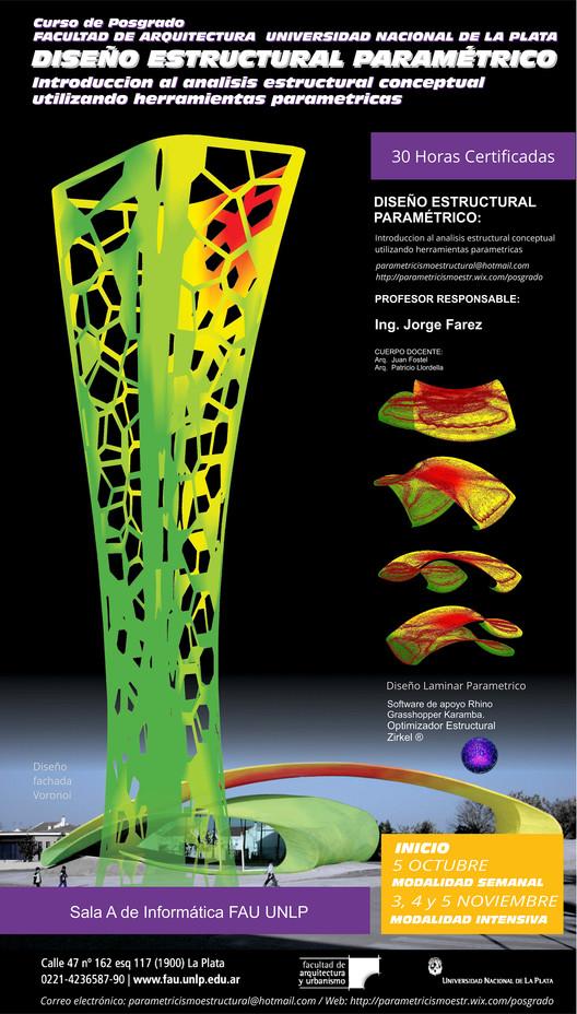 Curso de Diseño Estructural Paramétrico FAU UNLP / Argentina, Imagen realizada por Arq. Fostel Juan y Arq. LLordella Patricio