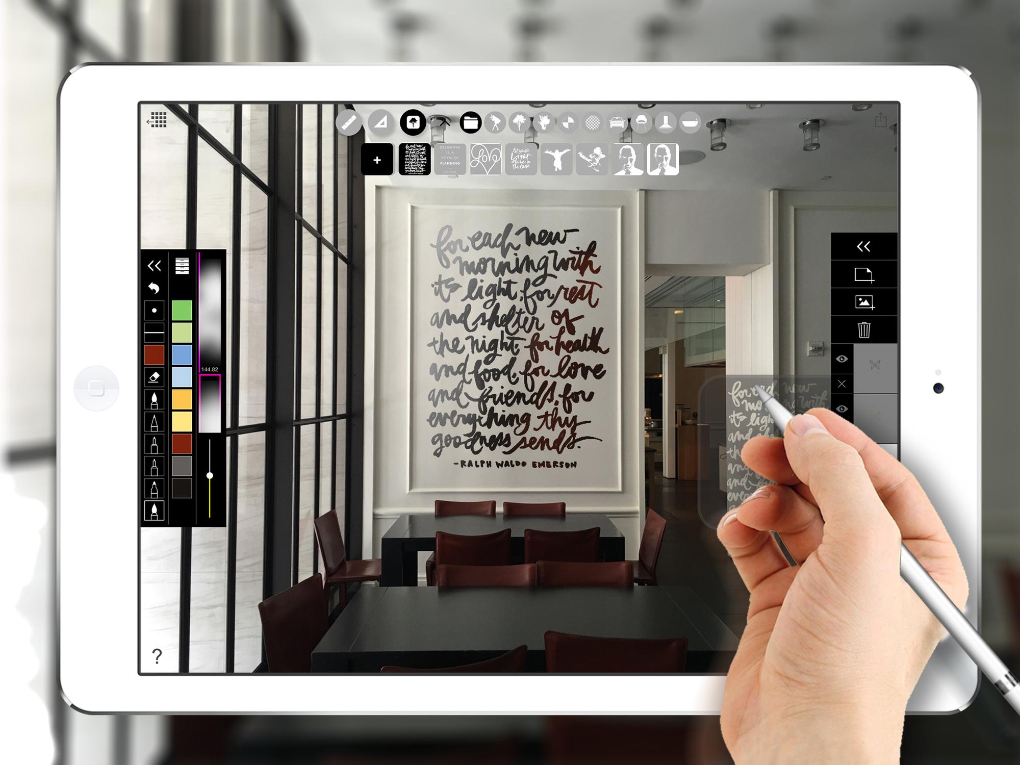 Galer a de 39 stencil app 39 te da las herramientas para crear for Restaurant interior design app