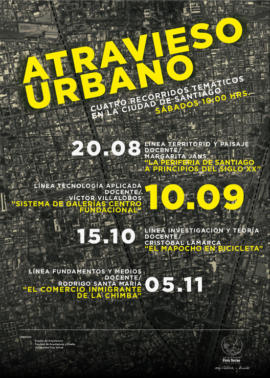Atravieso urbano: Cuatro recorridos temáticos en la ciudad de Santiago