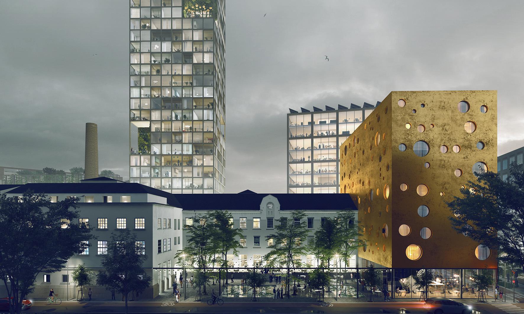 Transborder Studio transformará fábrica de Oslo en nuevo barrio agrícola