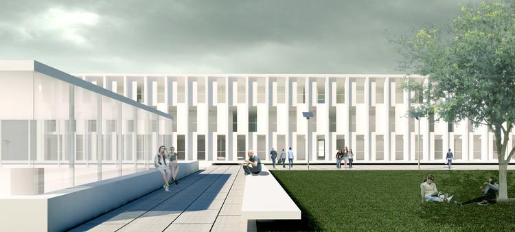 Primer Lugar Concurso Escuela Técnica de la Universidad de Mendoza - ETEC  / IN Estudio Arquitectura, Cortesía de IN Estudio Arquitectura