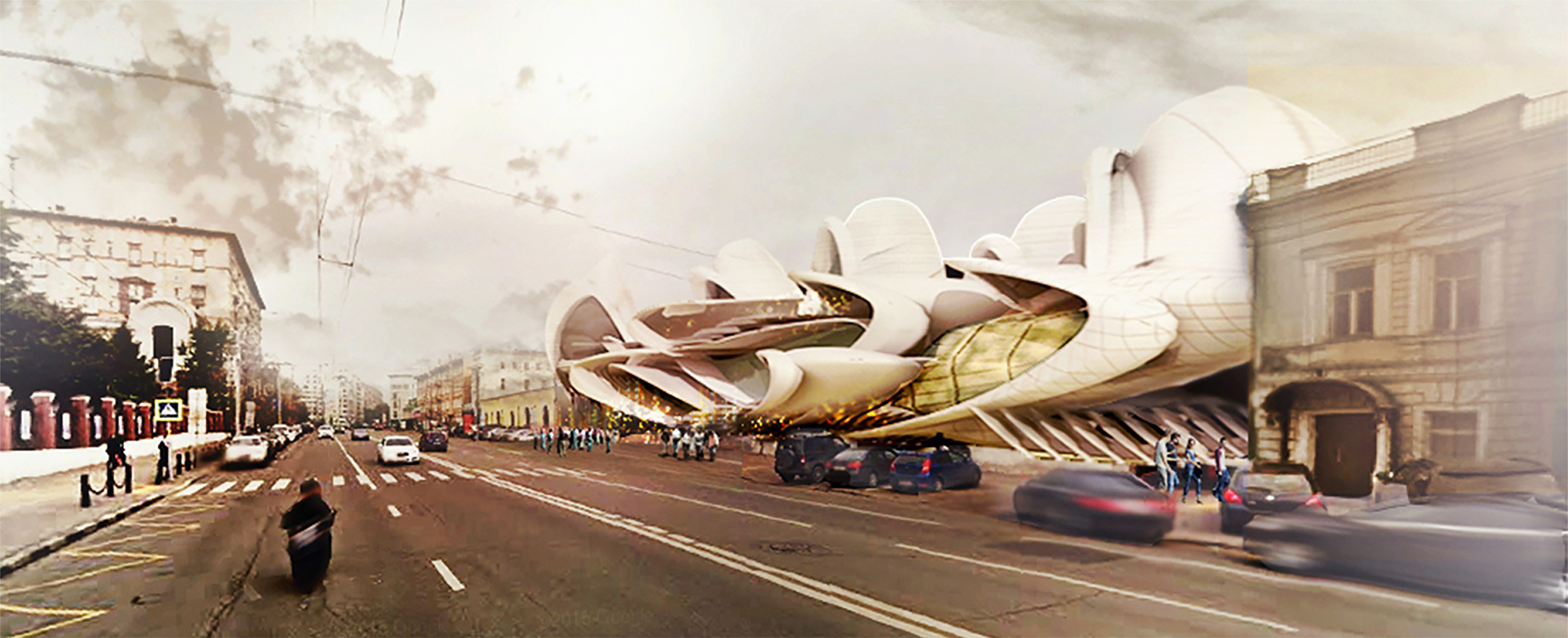 Gallery of Insect-Wing-Inspired Design Wins Moscow Circus