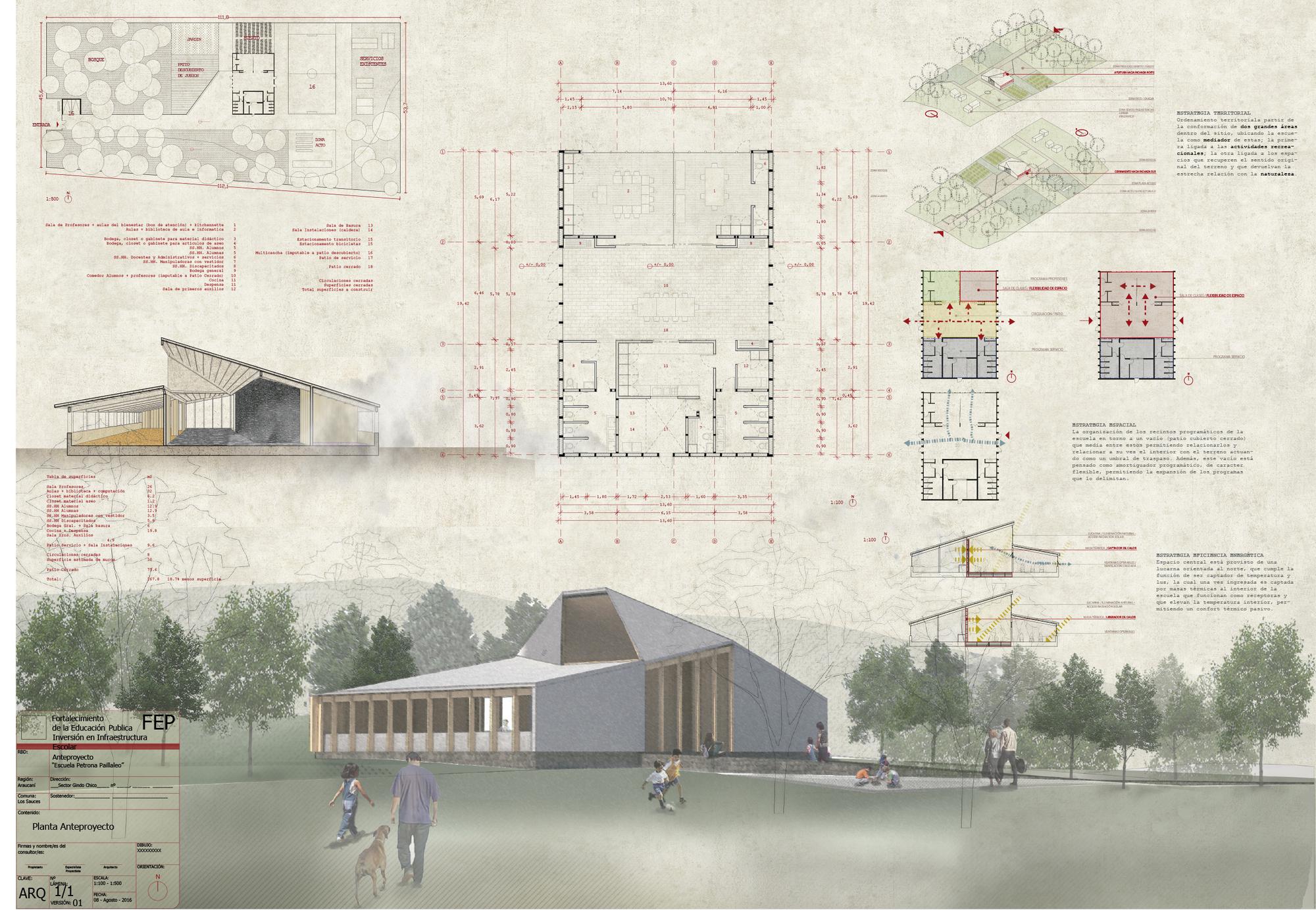 Conoce los dise os ganadores para reponer ocho escuelas for Arquitectura de interiores universidades