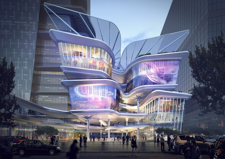 Aedas Reveal Dynamic New Design For The Shenzhen Luoho Friendship Trading Centre, Courtesy of Aedas