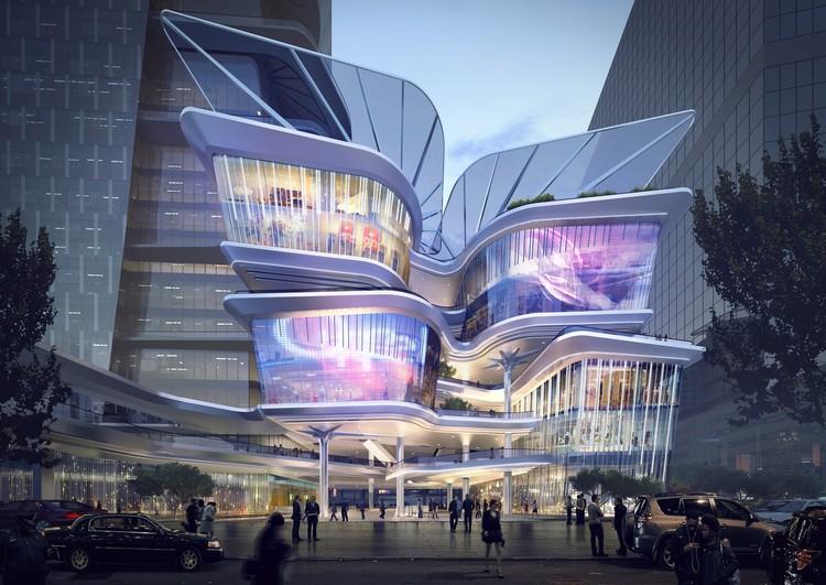Aedas divulga projeto para o novo Shenzhen Luoho Friendship Trading Centre, Cortesia de Aedas