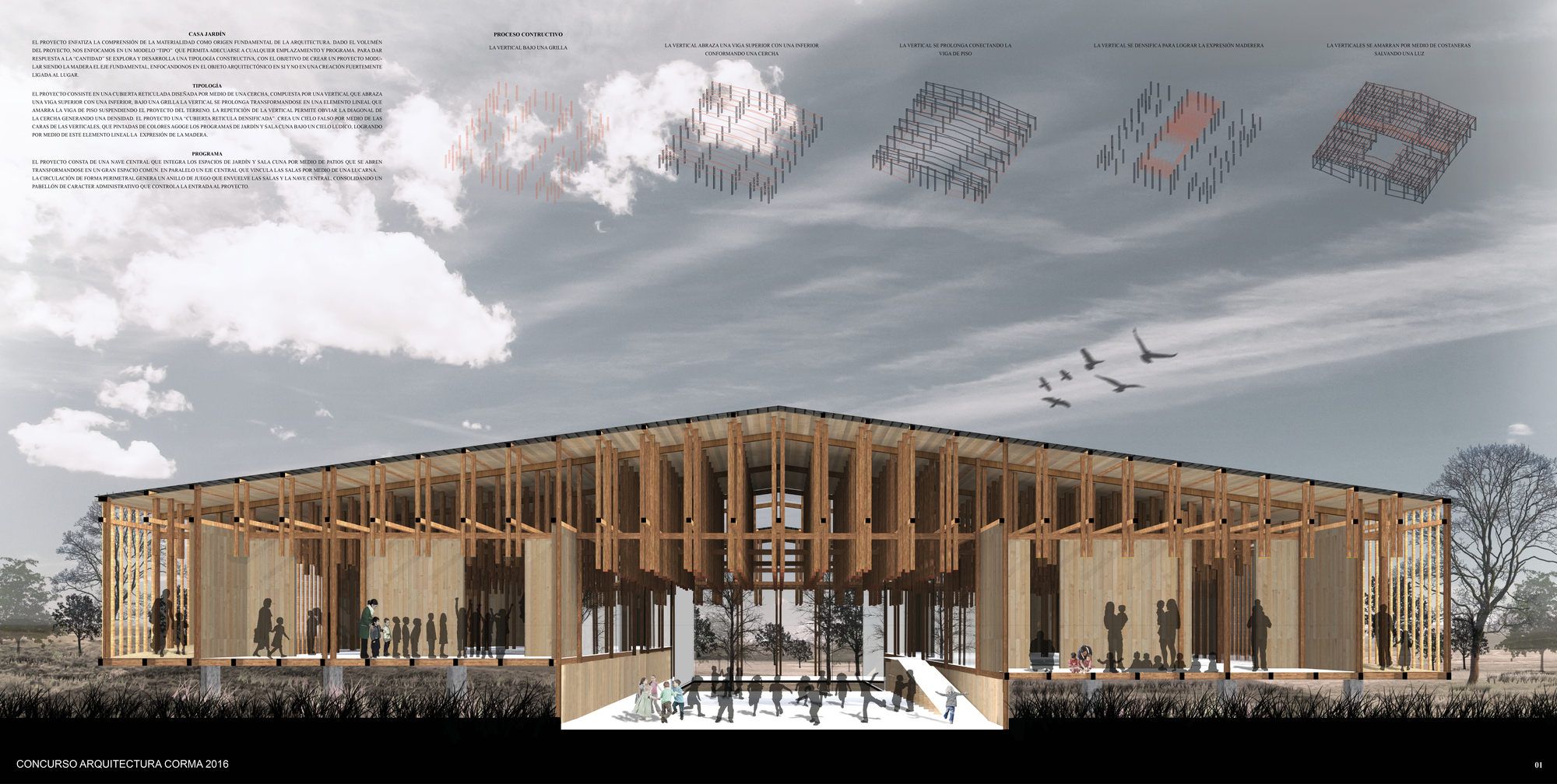 Casa jard n primer lugar del xi concurso corma 2016 for Arquitectura de proyectos