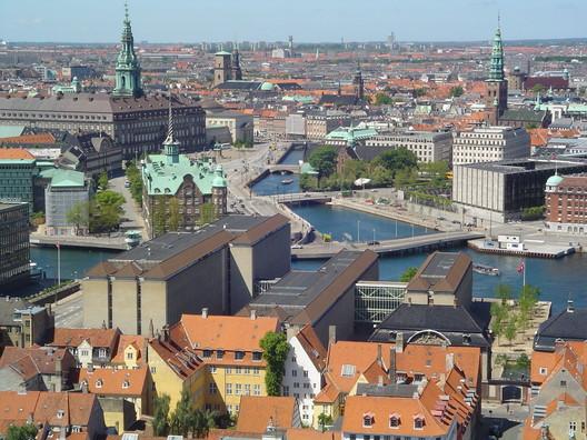 Copenhagen. Public domain image <a href='https://commons.wikimedia.org/wiki/File:Vor_Frelsers_Kirke-view8.jpg'>via Wikimedia</a>.