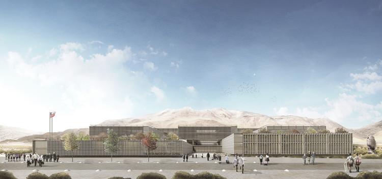 Conoce el proyecto ganador del concurso The Antofagasta British School en Chile, Cortesía de Equipo Primer Lugar