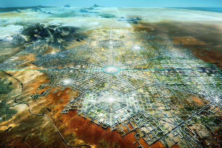 Border City: la ciudad utópica de Fernando Romero que borra la frontera de México-Estados Unidos, Border City. . Image Cortesía de FR-EE