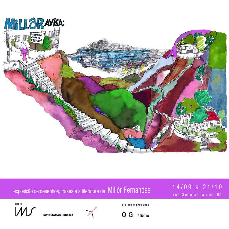 Escola da Cidade promove exposição  multimídia sobre Millôr Fernandes