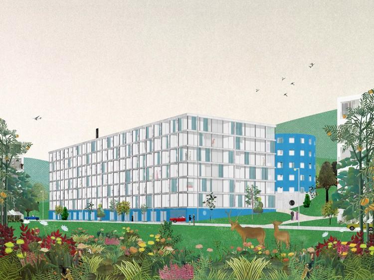 A imagem fala: ou, por que precisamos ir além dos renders, Habitação em Lausanne, Suíça. Image Cortesia de Fala Atelier
