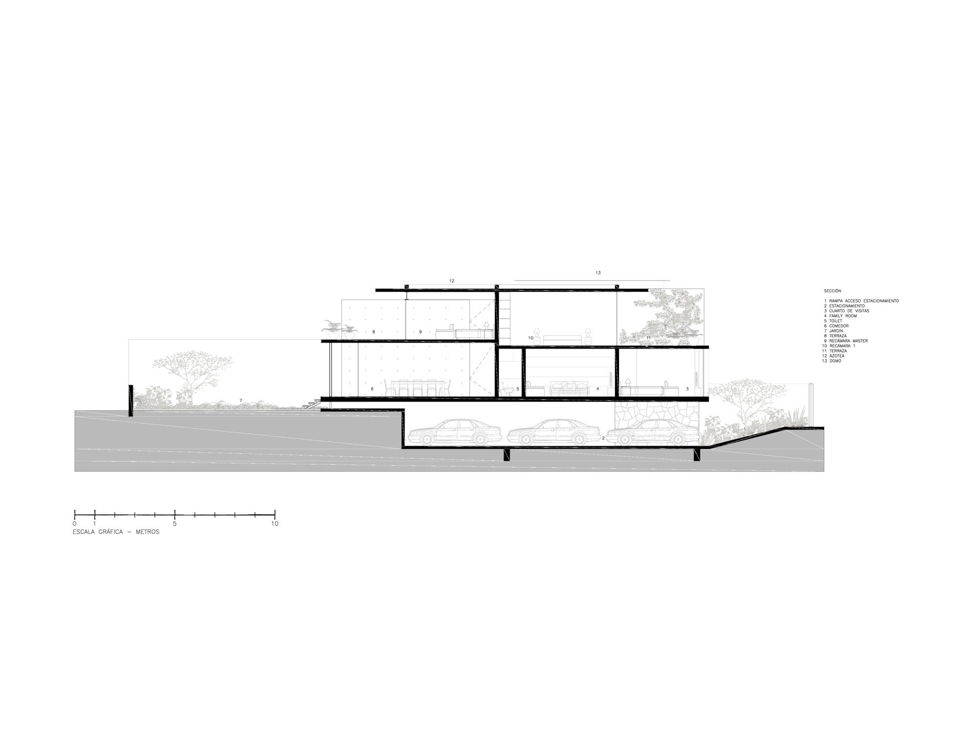 Galeria de casa ca caso jjrr arquitectura 18 for Arquitectura nota de corte