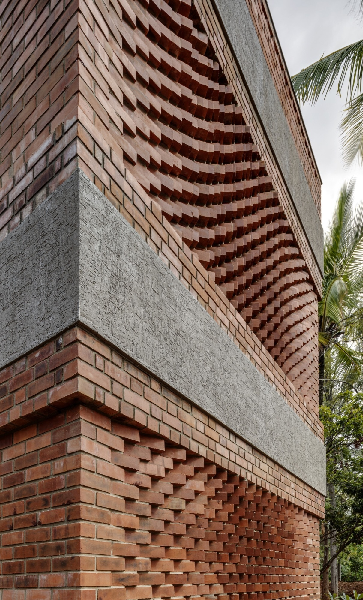 Gallery of shreyas retreat the purple ink studio 4 for Cool brick wall designs