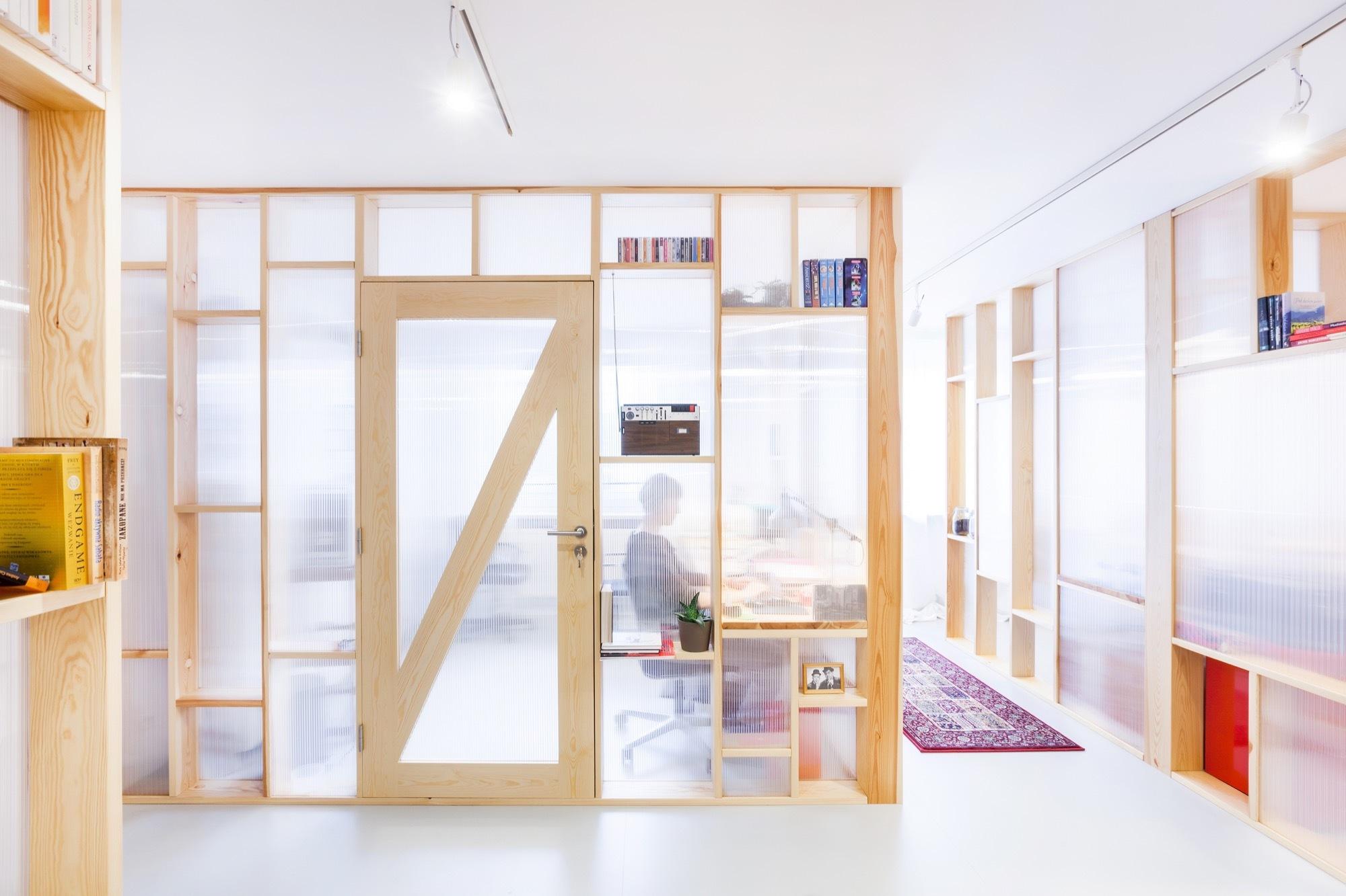 Wooden Shelf Room Divider