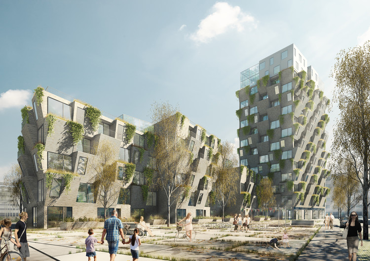 Studio LOKAL Wins Copenhagen Residential Competition With Hanging Gardens Tower, © archivisuals.dk