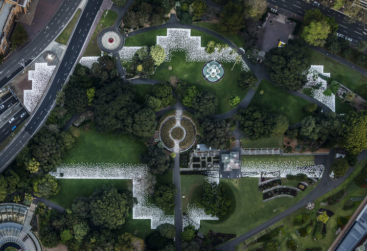 Art Installation in Sydney Marks the Footprint of 19th Century Destroyed Palace, Courtesy of Kaldor Public Art Projects