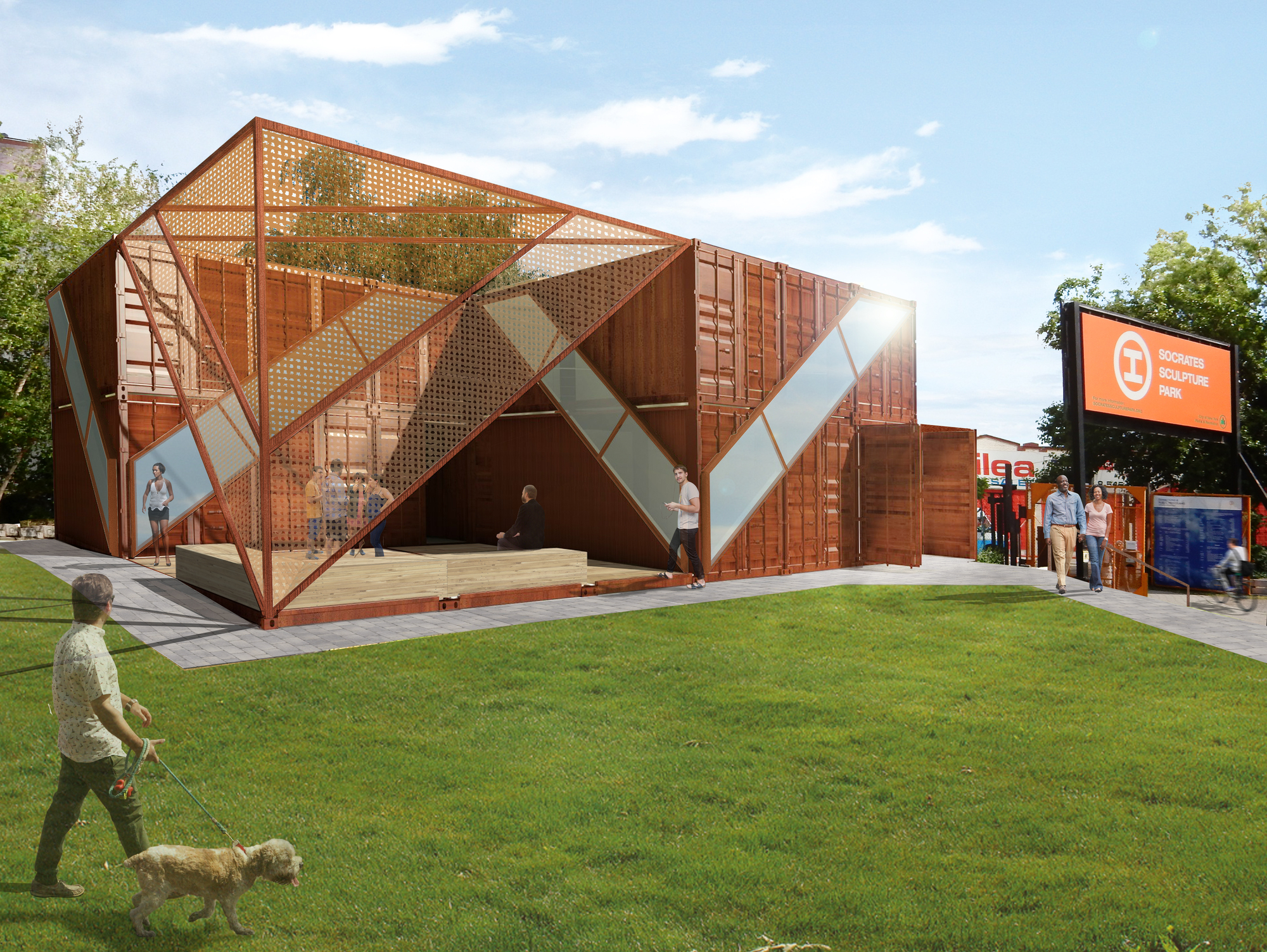 Lot Ek Architecture Uses Recycled Shipping Containers For