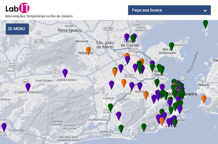 Intervenções temporárias no Rio de Janeiro ganham cartografia detalhada, Cortesia de LabIT