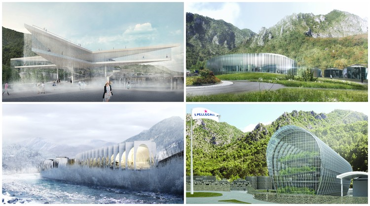 BIG, MVRDV, Snøhetta, aMDL Unveil Proposals for San Pellegrino Bottling Plant Competition