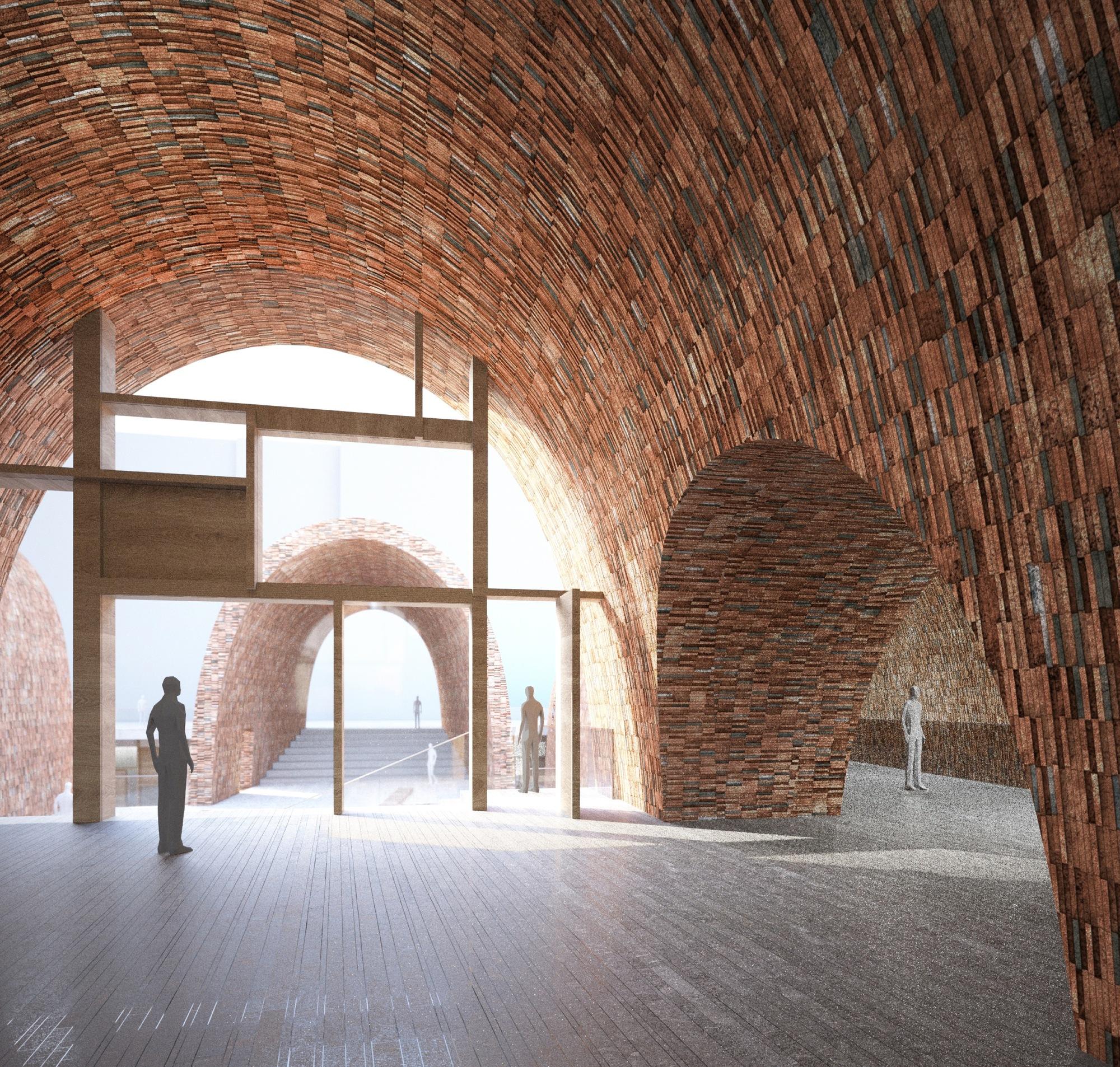 Galer a de studio pei zhu dise a un museo abovedado inspir ndose en antiguos hornos de cer mica 12 - Disena studio ...