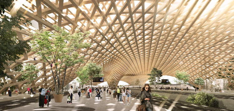 Erik Giudice Architecture Releases Proposal for Sustainable Transit Station Inspired by Matchsticks, Courtesy of Erik Giudice Architecture