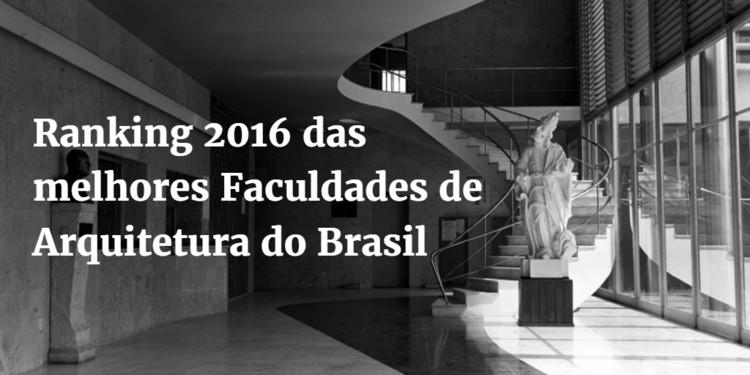Ranking 2016 das melhores Faculdades de Arquitetura do Brasil, Escada do hall da Escola de Arquitetura da UFMG. Image © Marcos de Carvalho Mazonni e Gui Tarcísio Mazonni, via Laboratório de Fotodocumentação Sylvio de Vasconcellos